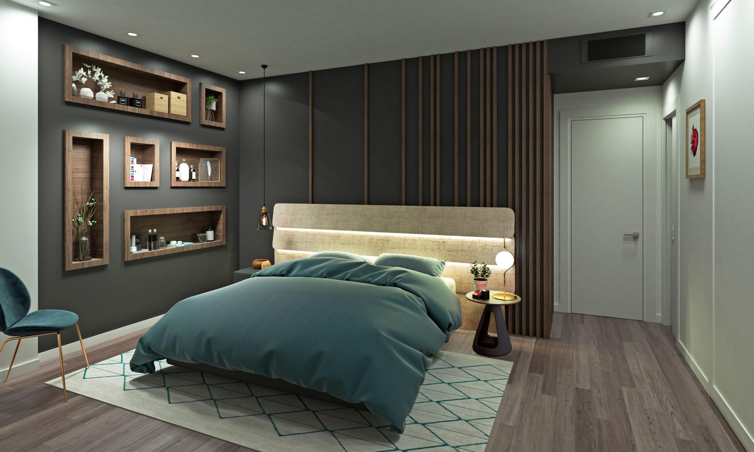 Dormitorio de dúplex en Valencia