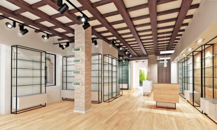 proyecto interiorismo farmacia